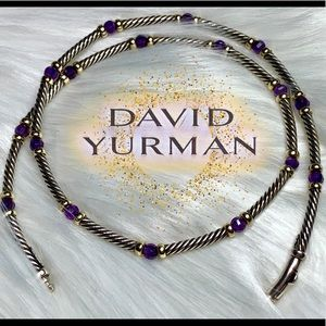 14k David Yurman HAMPTON Amethyst cable necklace